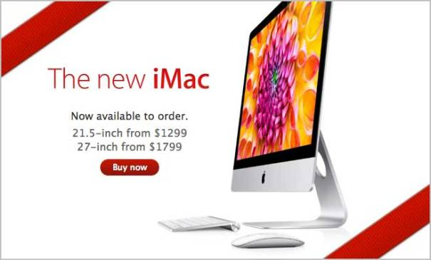On Friday, Apple made it's new redesigned iMacs available on the Apple Online Store.