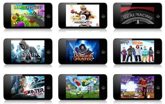 Games on Apple's App Store. Most of them are now available on Android