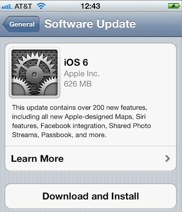 The iOS 6 Update