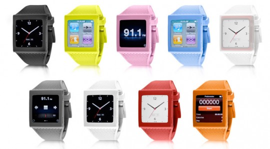 The iPod Nano as a watch.
