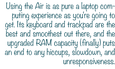 using the macbook air