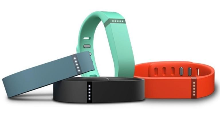 Flex, a wristband that syncs via Bluetooth 4.0 to Android and iOS devices and tracks your steps taken, distance travelled, calories burned, and how much you're sleeping.