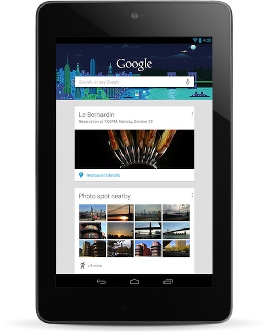 The popular Nexus 7 tablet that runs Android Jelly Bean.