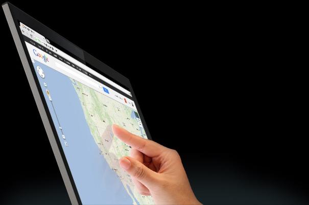 Chromebook-Pixel-touchscreen-Google-Maps