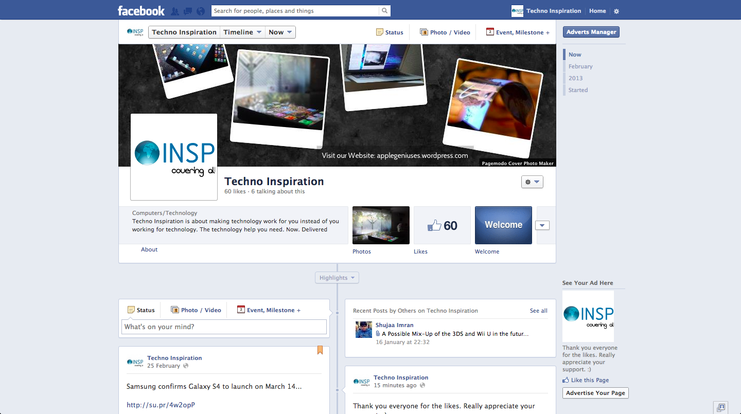 Facebook Introduces New Single Column Timeline Design and ... Facebook Page Timeline Example